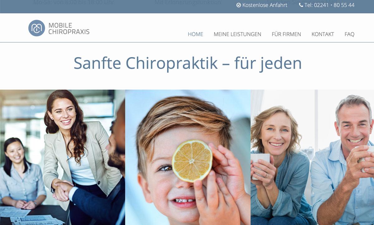 lemondesign Webdesign Projekte Mobile Chiropraxis